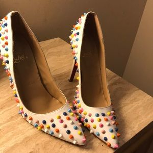 Christian Louboutin Pigalle 120 Multicolor Spiked